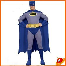 Costume Carnevale Halloween Uomo Super Eroe Batman Brave Bold  Tg  48-58