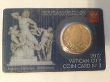 2012 vatican city coin card 50 euro cent pope benedict XVI new uncirculated