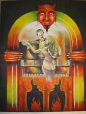 Evil Satan Devil Watching Jukebox Music Dancing Couple Art Painting Print Horror