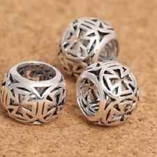 Openwork TEMPLAR CROSS spacer-Solid 925 sterling silver European charm bead