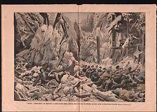 Collapse of a water tank Construction Réservoir d'Eau Madrid 1905 ILLUSTRATION