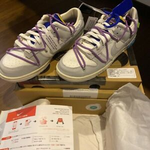 NIKE x Off-White Dunk Low Lot 48 Shoes New US8.5 Authentic From JAPAN