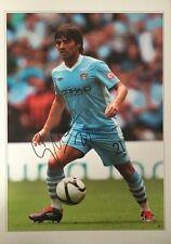 Firmato David Silva Manchester City Autografo foto SPAGNA