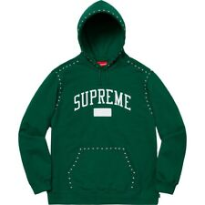 Supreme Green Studded Hoodie Mens Size L- 100% Authentic/ Barely Wear