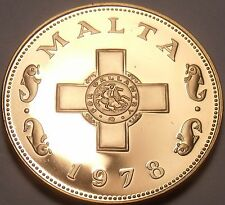 Rare Cameo Proof Malta 1978 Cent~The George Cross~3,244 Minted~Free Shipping~