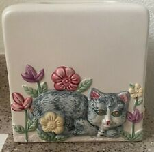 Tissue Box Cover Dispenser Bathroom Accessories Unbranded Ceramic Cats Cat Lover