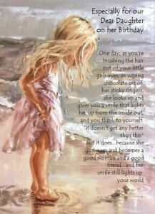 Especially For OUR Dear Daughter On Her Birthday A5 Card Birthday With Love