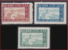 VIETNAM du NORD N°115/117 ESG (Cf description) 1957, North Vietnam #51-53 NGAI