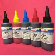 500ML DYE INK REFILS FOR CANON MG 5150 MG 5250 MG 5350 MG 5450 REFILLABLE CISS