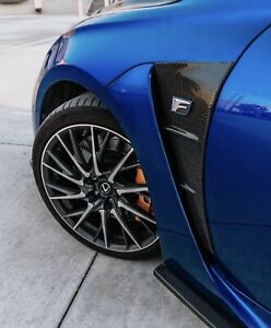 Carbon Fiber AD Fender Ducts Inserts To Fit Lexus RCF 15-19