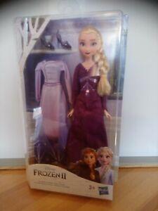 Poupée Elsa 2 tenues reine des neiges Disney Frozen ll Hasbro neuf
