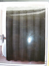 "BLACK WITH SUBTLE STRIPING FABRIC SHOWER CURTAIN W/HOOKS , 72"" W"" X 72"" L, NEW"