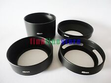 46mm standard telephoto wide angle vented curved metal lens hood kit set 4pcs