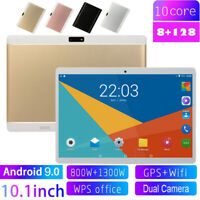 "10.1"" inch HD 8+128GB Tablet PC Android 9.0 Ten Core Dual Camera SIM GPS Phablet"