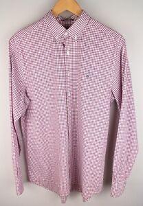 Gant Tech Prep Oxford Men Casual Shirt Check Red Cotton size M 39/40