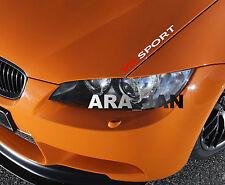 V8 SPORT Vinyl Decal sticker racing speed car emblem logo hood sticker WHITE/RED