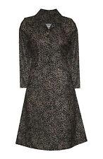 Collar Long Sleeve Animal Print Dresses for Women