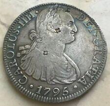 1795 Mo FM Mexico 8 Reales - Chopmarks