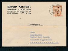 Geschäfts-Postkarte 1955 aus Innsbruck, Maschinen und Werkzeuge  19/4/15