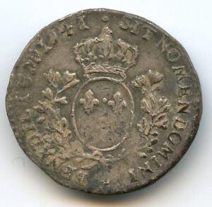 Louis XV (1715-1774) 1/10 Ecu au bandeau 1741 & Aix