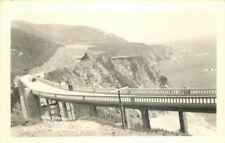 Bixby Bridge Roosevelt Highway 1940s Carmel RPPC real photo postcard 12636