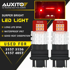 2X AUXITO 3157 3156 Turn Signal Brake Tail Light Bulb Red LED 12E For Ford US ED
