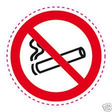 1 Autocollant rond INTERDIT DE FUMER sticker interdiction de fumer adhésif 10 cm
