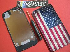Kit COVER POSTERIORE RETRO pr APPLE IPHONE 4 4G+GIRAVITE FLIP BATTERIA VETRO USA