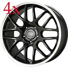 Drag Wheels DR-37 19x8 5x114.3 et40 Gloss Black Rims 370z g37 350z g35 Mustang