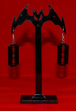 Razor Earrings - Black - punk cybergoth cyberpunk raver black metal
