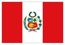Peru State Flag 5ft x 3ft Flag of Peru Peruvian South America Indoor Outdoor