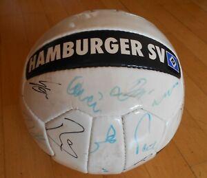 Autogrammball HSV Hamburger SV mit Unterschriften Fanball