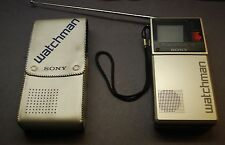 Vintage SONY WATCHMAN Model FD-20A  w/ Case & Strap, 1983 Tested