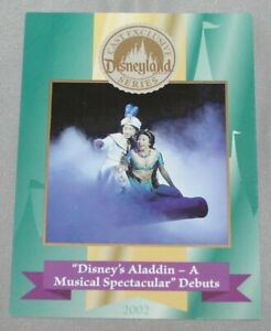 Disneyland Cast Exclusive Series Card Aladdin A Musical Spectacular Debuts 2002