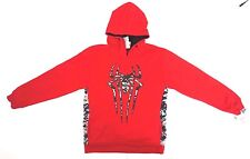 Marvel The Amazing Spider-Man Boy's Army Style Red Hoodie Size XXL 18 NEW