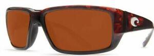 Costa Del Mar Fantail Tortoise Copper Mirror Sunglasses 580G TF 10 OCGLP