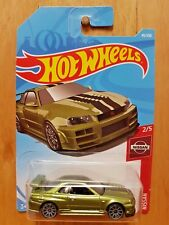 HOT WHEELS 2019 NISSAN 2/5 NISSAN SKYLINE GT-R (BNR34) 45/250 INTERNATIONAL CARD