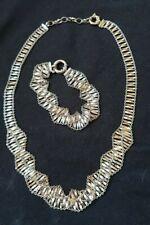 Sterling Silver Lot Ladies Fancy Necklace And Bracelet Set Hallmarked