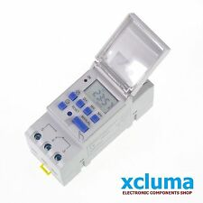 XCLUMA DIGITAL TIMER WEEKLY DAILY PROGRAMMABLE ELECTRONIC AC 220V 16A BE0124