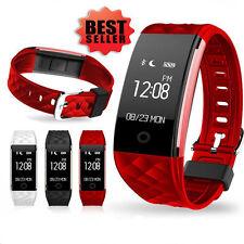 Sports Smart Watch Bracelet Montre Connectée Etanche Pédomètre Android iOS Rouge