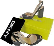 NEW $245 Gorgeous Donna Karan DKNY Italian Leather Shoes! 8  *Black*