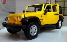 2015 Jeep Wrangler Unlimited Yellow 124 Diecast Model Car by Maisto