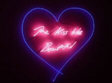 New The Kiss Was Beautiful Bar Pub Wall Decor Acrylic Neon Light Sign 24""