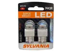 SYLVANIA ZEVO Superbright 7443R LED (Red) Automotive Bulb, 2 LAMPS #B4