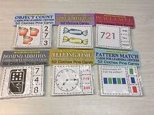 6 Math Sets - Cards for Learning Center 52 Cards - Teaching Supplies - Pre-k