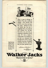 1926 Paper Ad Walker Jacks   Walker Manufacturing Co  Racine WI