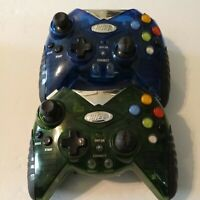 Intec Blue & Green Wireless Controller for Microsoft XBOX UNTESTED