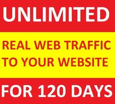 UNLIMITED Genuine Real Website TRAFFIC for 4 months(120 days) for $10