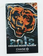 2012 CHICAGO BEARS POCKET SCHEDULE (SKED)