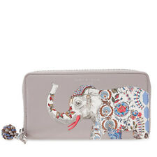 Tory Burch Elephant Continental Zip Wallet - French Gray